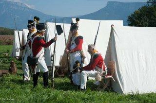 Reconstitution d'un bivouac de la période napoléonienne à Vourey en Isère