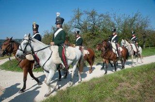 Reconstitution historique de la période napoléonienne à Vourey en Isère. La cavalerie