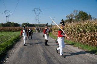 Une troupe suisse napoléonienne à la recherche des royalistes