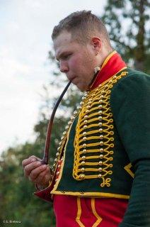 Reconstitution d'un bivouac des troupes napoléoniennes au château du Passage en Isère