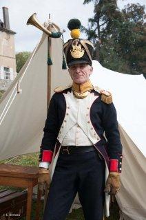 Reconstitution d'un bivouac des troupes napoléoniennes au château du Passage en Isère. Henri Caporali