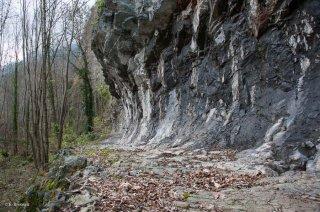 Bourg d'Oisans. La voie romaine de Rochetaillée