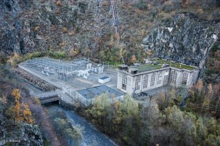 Bourg d'Oisans. Centrale électrique de Saint Guillerme et la Romanche