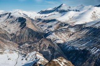 Le col de Sarenne et le plateau d'Emparis au dessus de Clavans le Haut