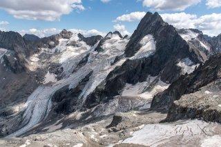 Vallée du Vénéon. Glacier de la Pilatte