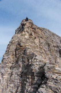 Ascension de l'Obiou par le Malpasset. Passage engagé