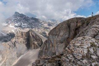 Vue sur le Grand Ferrand depuis le Rocher Rond