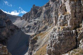 Combe de la Fuvelle dans le massif de l'Obiou