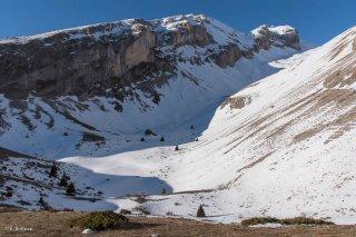 Le vallon du Mas et la Tête de l'Aupet