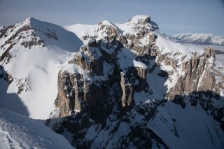 La face sud du massif de l'Obiou
