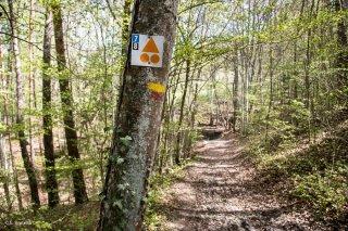 Panneau sentier VTT dans le Trièves, Isère