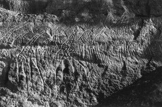 Gravures rupestres représentant des girages