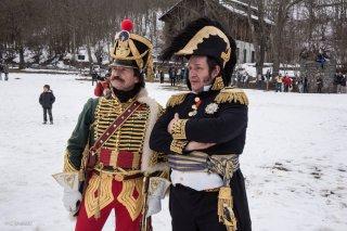 Reconstitution du bicentenaire à la prairie de la rencontre à Laffrey (Isère). 7 mars 2015