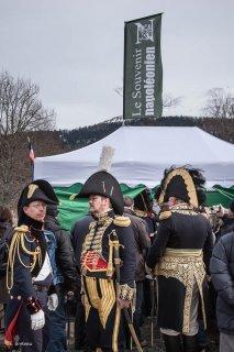 Association du Souvenir napoléonien. Reconstitution historique pour le bicentenaire à la prairie de la Rencontre à Laffrey (Isère). 7 mars 2015