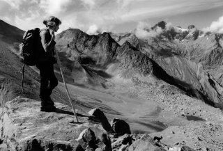 Christiane, bergère dans le Valgaudemar. Hautes-Alpes