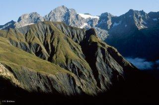 Le Pic Gazonné, alpage du Valgaudemar. Hautes-Alpes