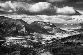 Plateau de Pellafol et de Cordéac devant le Châtel. Novembre 2014