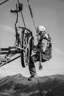 Entretien des remontées mécaniques à Gresse-en-Vercors. Novembre 2015