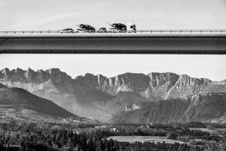 Viaduc de l'autoroute A51 à Monestier de Clermont. Novembre 2015