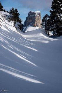 Le mont Aiguille vu depuis les Rochers du Parquet