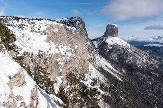 Les Rochers du Parquet et le mont Aiguille