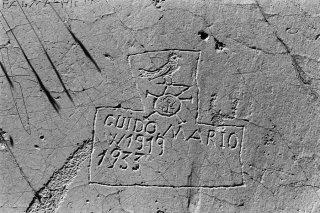 Vallée des Merveilles. Inscription du berger Guido Mario