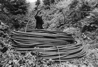 Déroulement du câble porteur
