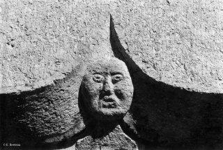 Détail d'un linteau de porte à Gresse en Vercors