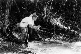 Rémi et Max à la pêche à la truite
