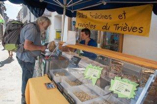 Marché de Mens, Capucine fabricante de pâtes fraîches