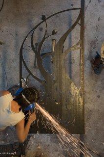 Marie-France Poulat, sculpteuse et ferronnière à Saint-Paul les Monestier