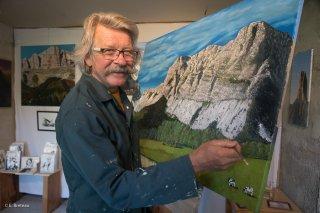 Jean-Marie Philippe, artiste peintre de l'Atelier de Roche Rousse à Gresse en Vercors
