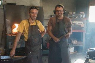 Atelier de coutellerie Denok et L.E.T. à Prébois, avec Denis et Jérémy