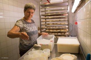 Avec Cathy, dans la fromagerie du Cris-Cath, ferme auberge à Tréminis