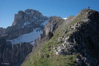 Arête du Rattier et la Tête de l'Obiou, Isère. Voie engagée