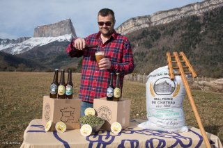 François, de la Brasserie du mont Aiguille à Clelles. Trièves, Isère