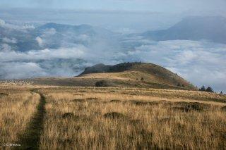 Le plateau au sommet du Châtel. Trièves, Isère