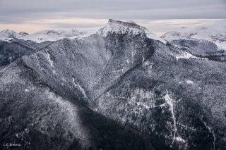 La vallon de Tréminis et le sommet de l'Aup. Trièves, Isère
