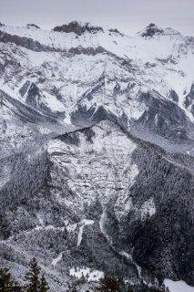 Le col de Mens et le sommet de l'Obiou dans le Trièves. Isère