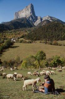 Berger au pied du mont Aiguille