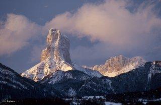 Le mont Aiguille vu depuis Roissard
